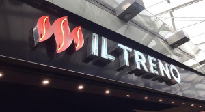 Restaurant fascia neon letters