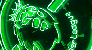 Premier League neon sign