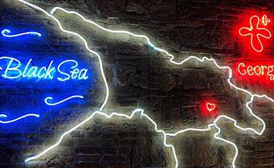Hachapuri neon sign